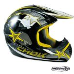Collection de casque moto cross CHOK STAR 14 couleur jaune gris