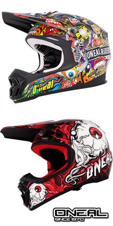 pr�sentation de la collection casques moto cross Oneal