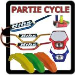 pi�ces partie cycle, garde de boue, plaque phare, guidon cross